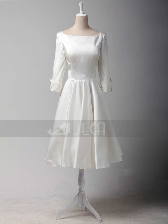 Famous Tea Length Wedding Dresses Vintage Style Mold - Dress Ideas ...