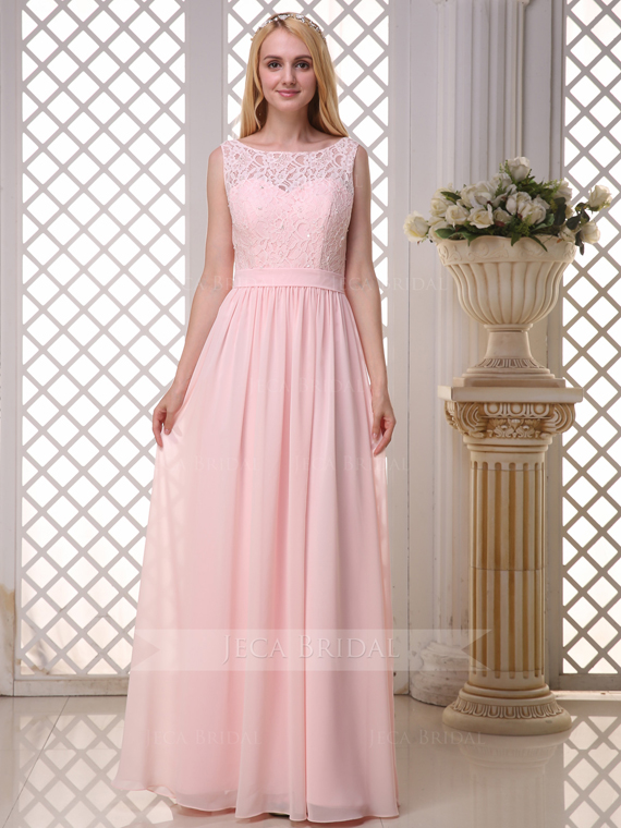 Lace Bateau Neckline Modest Bridesmaid Dress Junior Bridesmaid Dress B607