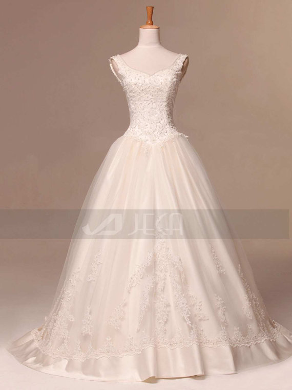 Vintage Inspired Modest Wedding Gown Debutante Gown Available In
